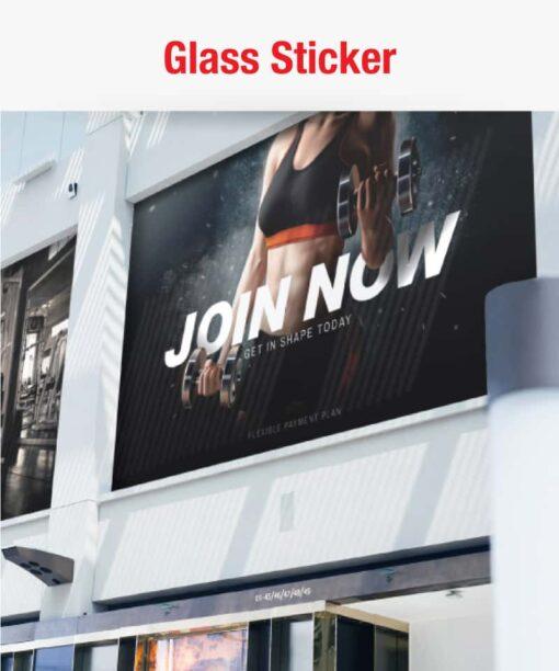glass sticker printing