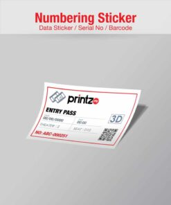 numbering sticker