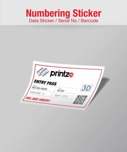 numbering sticker